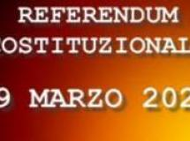 REFERENDUM COSTITUZIONALE 29 MARZO 2020